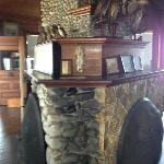 The coolest fieldstone fireplace ever...
