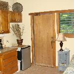 The door leading to the lanai- see the louvers
