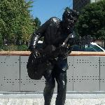 Chuck Berry's statue in The Loop