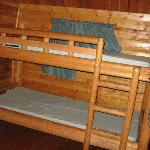 2 sets of bunks in 2 room cabin
