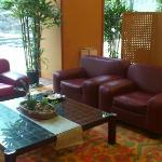Hotel lobby; with plenty of space and comfortable setting