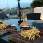 Yummy burgers and a view!