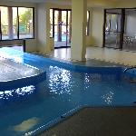 Indoor pool & tunnel swimway to outdoor pool