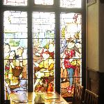The stained glass breakfast room