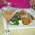 Macademia encrusted Rockfish, spinach and a