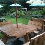 the pub garden (shot taken in rain)