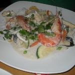 Seafood green Thai curry - Yummy!