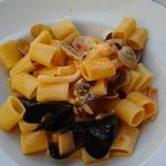 Paccheri with mussels and clams