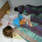  Queen bed slept my 3 kids, ages 5-10 somewhat comfortably