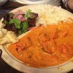 Chicken Tikka Masala at Little Kebab.... yep, that's a paper plate