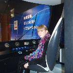 Tanja at the controls of Shinkansen