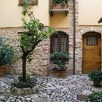  The courtyard that leads to the different rooms