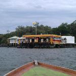 A Floating Shell Station. You should really see how they carry out the exchange of petrol and ca