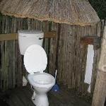 Bush cabin outside toilet