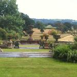 formal garden from the sitting room - Manor Hall