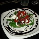 Spinach salad with a light balsamic glaze