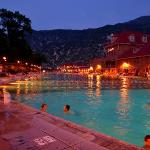  Hot Springs pool at night