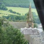  View over Innerleithen from Glede Knowe guest house