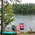  Private dock with paddle boat, row boat, and canoe