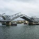 going under the lift bridge