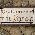 The sign to the Agriturismo