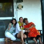 with aniva and doriana wearing my lei