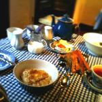 My perfect fell walking breakfast: Porridge and tea.