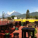  Our excellent view fot the volcanoes Fuego and Acatenango