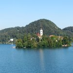 A ilha no centro do lago Bled