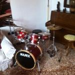 the living room drum kit