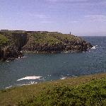 The view from Porthgain coastal path.