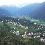 view of imst and surrounding villages and mountains