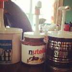 "Toppings Bar - ""How much for just the Nutella Tub?"""