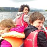 In a Canoe - for four - on Lake Bala
