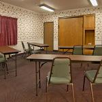 Motel has a meeting room for up to 25 people. Have