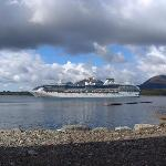 Coral Princess cruises past The Point