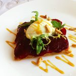 Opal's beetroot tart is one of my favorite dishes.