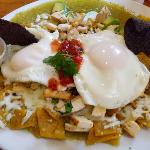 Chilaquiles available Mon-Fri only.