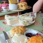 Superb homemade afternoon tea