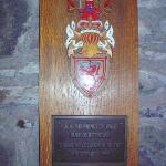 Prince Charles plaque at Rothesay Castle