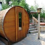 wood-burning sauna