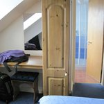 Double Room - desk, wardrobe, bathroom entrance