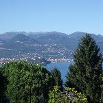 View of lake Maggiore from the garden of the Villa