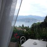 View of lake Maggiore from our room