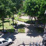 View of Parque Principal from Balcony of 2nd Floor Room