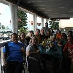  Lunch after the ride. We pulled the tables together and got to know each other better.