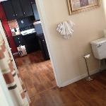 2nd bathroom between kitchen & living room in Mountain Suite. Weird location, but nice to have
