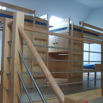 We have 24 dublex rooms with four bunk beds.