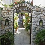  Entrance to hotel through lovely garden area