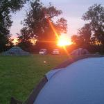 Sunset over Wing Hall camp site